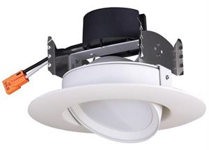 Satco 4 Inch Directional Gimbal 90° LED Downlight Retrofit