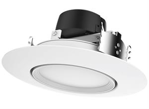 Satco 5 or 6 Inch Directional Gimbal 90° LED Downlight Retrofit