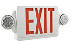 Lithonia EXR LED Emergency Exit Sign/Lighting Combo