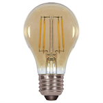 Satco A19 Amber LED Antique Filament Light Bulb