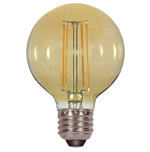 Satco G25 Amber LED Antique Filament Light Bulb