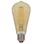 Satco ST19 Amber Antique Filament Light Bulb