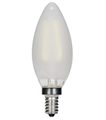 Satco CTC Torpedo Frosted LED Vintage Filament Light Bulb