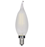 Satco CFC Flametip Frosted LED Vintage Filament Light Bulb