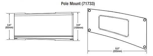 Sylvania LED Pole Mount Dimensions