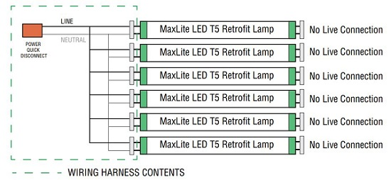 [DIAGRAM_1CA]  Maxlite G5KIT4 (14098786) - Four (4) socket t5 wiring harness non-shunted  g5 lampholder for LED t5 single end powered ballast bypass lamps -  fluorescent to LED retrofit accessories at Green Electrical Supply | T5 Light Socket Wiring Diagram |  | Green Electrical Supply