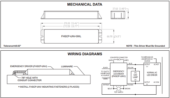 Emergency Led Driver Wiring Wiring Diagram For Light Switch